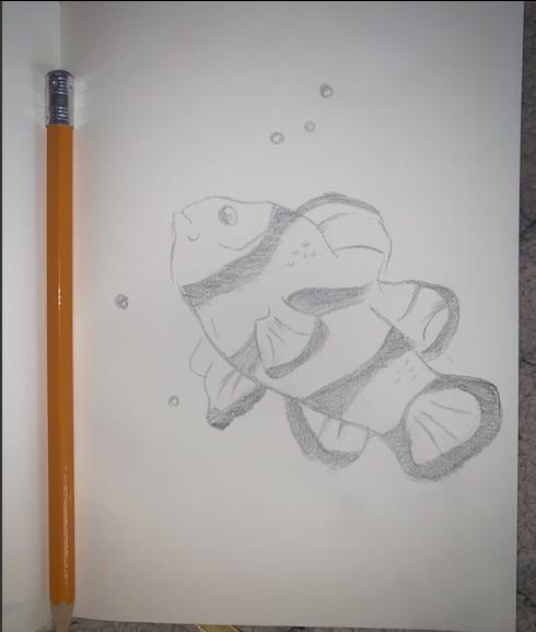 Clown fish because of Finding Nemo! Miss Harris