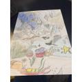 Gabriel's underwater painting