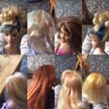 Erin dying her dolls' hair