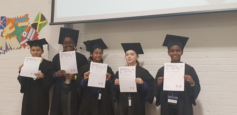 Team Anne Frank graduating!