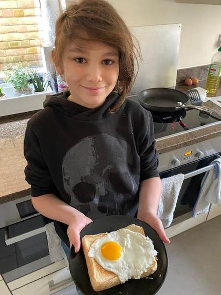 And adding a new twist to the recipe, a fried egg