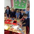 Pupil Parliament packing the school boxes.