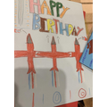 We made some birthday cards for an ex-WW2 soldier. He was turning 100!