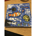 Colourful Fish Canvas Painting from AT in 3MN
