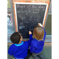 We love using our outside areas to practise our maths