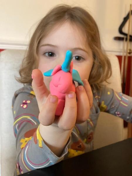 A play dough unicorn - my favourite fantasy creature