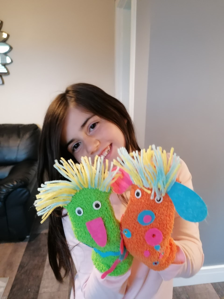 Fantastic Colourful sock puppets