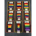 Puffin class made some amazing rainbow calendars by threading wool.