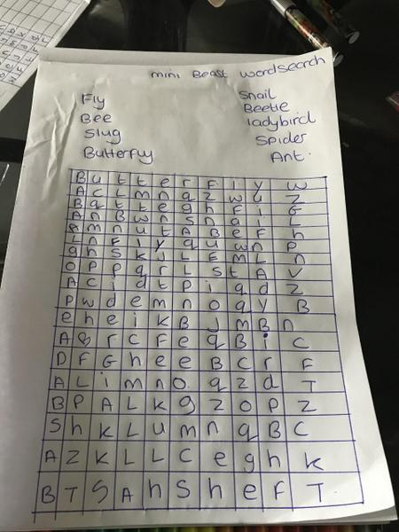Slarla's Word search challenge craeted