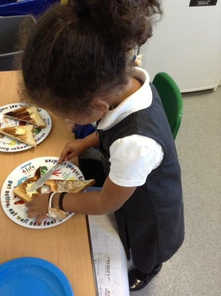 Making snack for our Nursery friends.