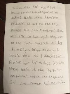 Josh's Story writing