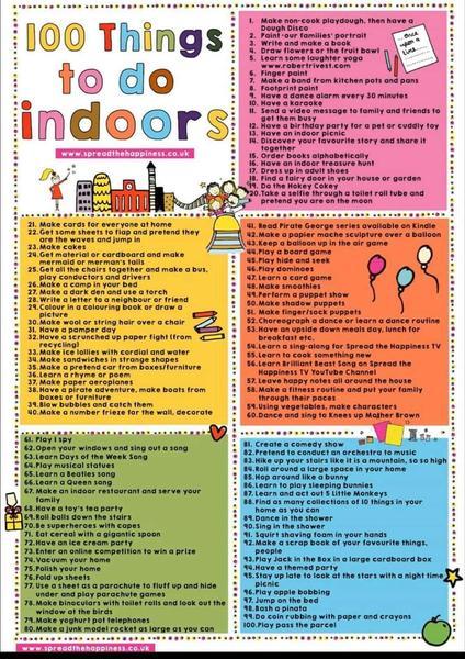 100 ideas , even on rainy days!