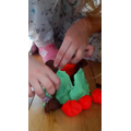 SA in 3PR making a playdoh castle