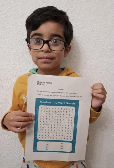Ibrahim's number word search