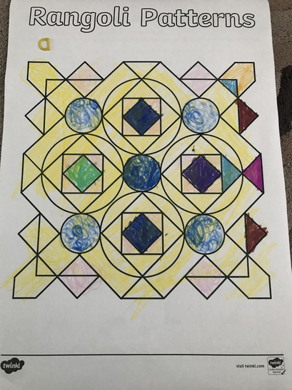 A colourful Rangoli pattern from Callie.