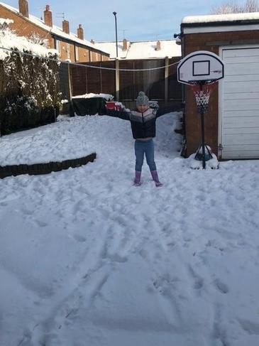 Eleanor having fun in the snow