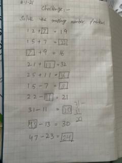 Menaal's amazing Maths work