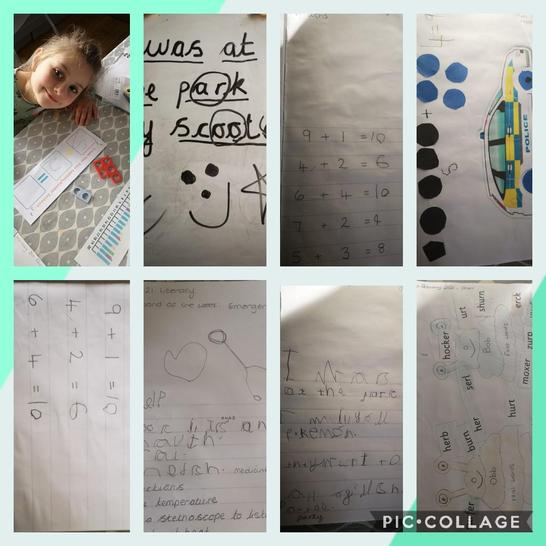 Penelope has been very busy this week completing her home learning.