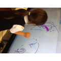 Using our interactive whiteboard