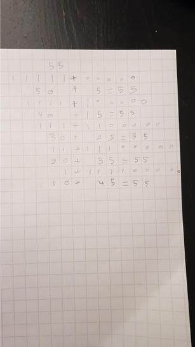 Alina's maths work