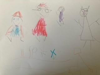 The Little Red Riding Hood story map from Imogen