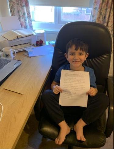 Elias has done some super writing!!