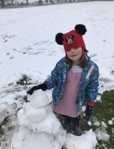 Marissa had fun in the snow too