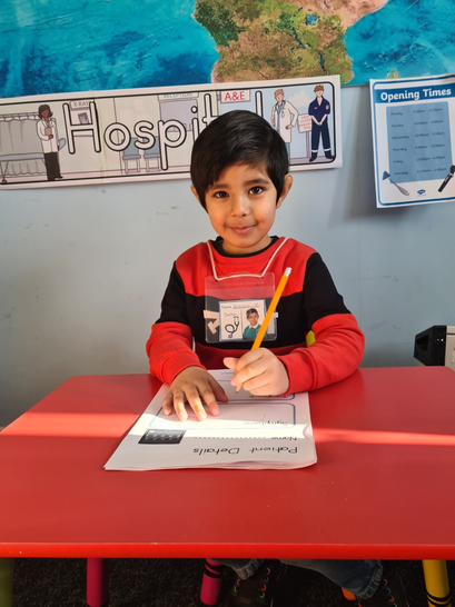 Hasnain got into the role of being a doctor!
