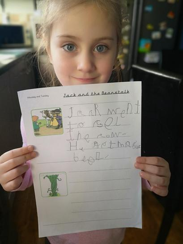 Penelope's amazing Jack and the Beanstalk story.