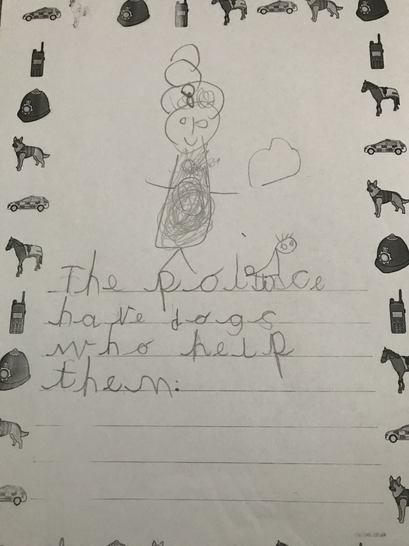 Callie wrote about the police.