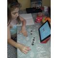 A busy doing her maths
