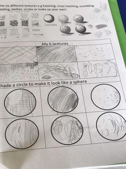Rayyan's super art work - I love how you have used pen to make the shapes look 3D