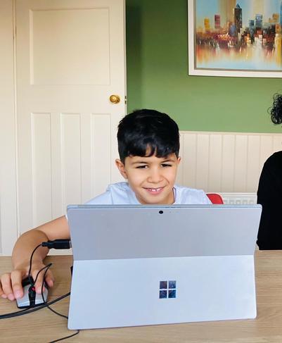 Jasper working happily