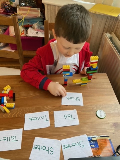 Freddie has been busy with his maths.