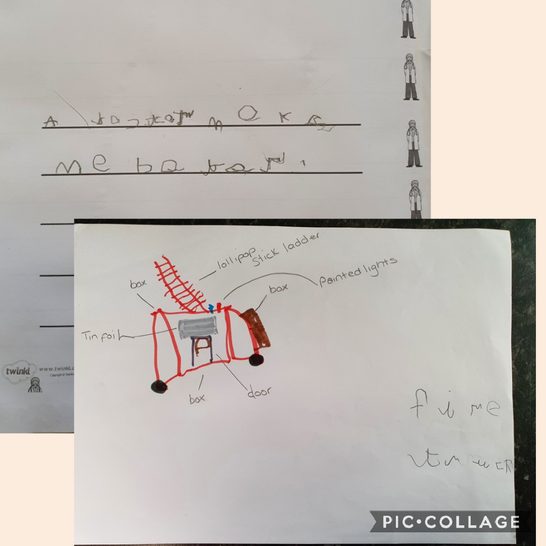 Kyaan wanted to build a fire engine model.
