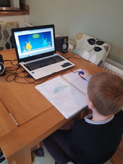 Archie has been very busy doing his phonics work.