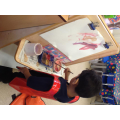 Using our painting easel
