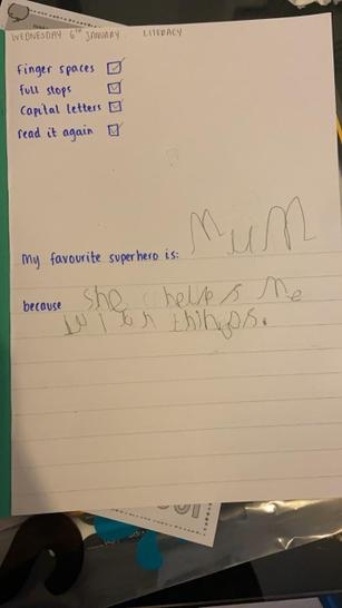 Harris's work about his favourite superhero.