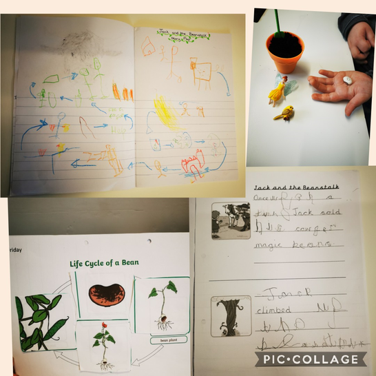 Kyaan's Jack and the Beanstalk work.