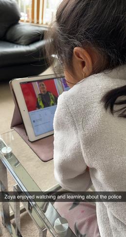 Zoya enjoyed learning about the police.