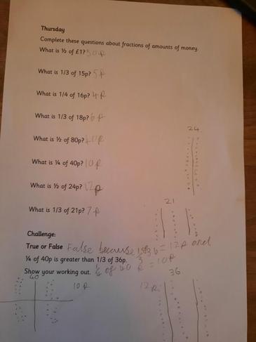 Amazing fraction work Finlay!