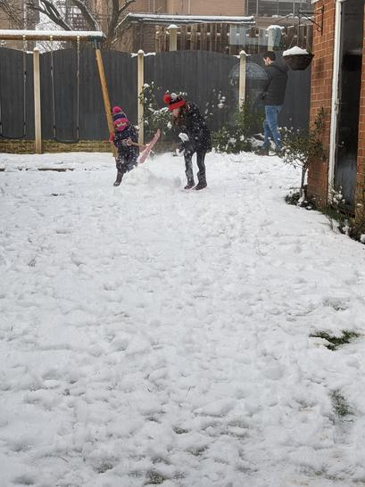 Having fun in the garden