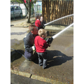 Squirting the hose was great fun!