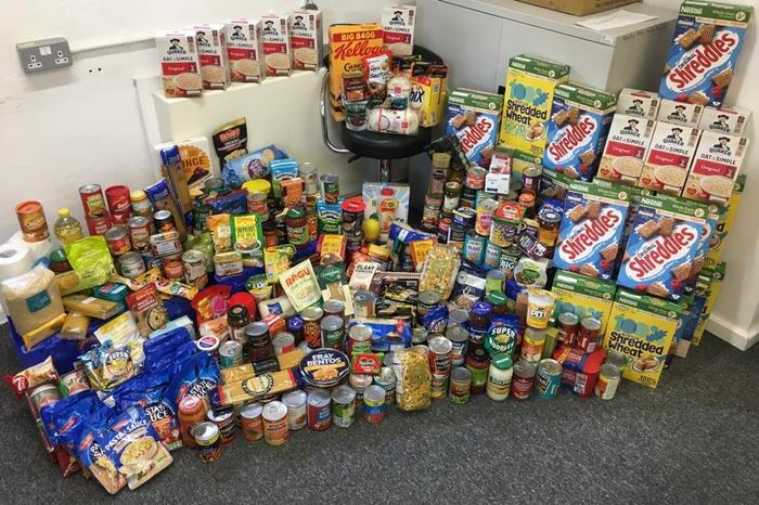 Despite COVID - we had a wonderful collection of food donated by our families!  Thank you!