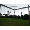Hanging around on the high ropes!