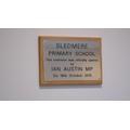 The special plaque!