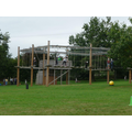 A view of the high ropes course.