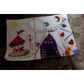 Lexie's circus tent artwork