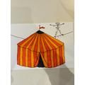 Luca's circus tent artwork
