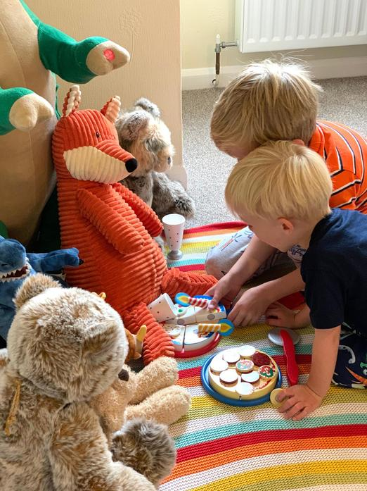 William and Edward setting out their bear's picnic